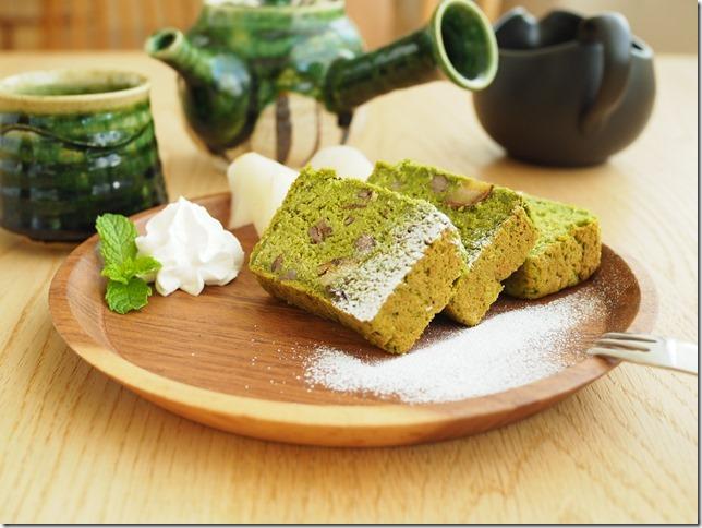 季節限定 栗と抹茶のお寺ケーキ