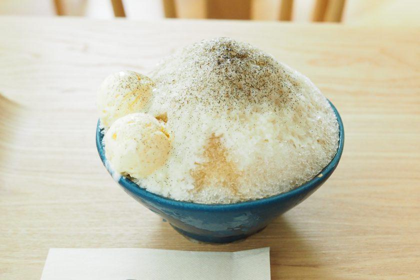 心憩茶(ほうじ茶)のかき氷