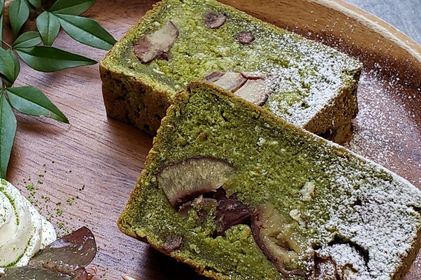栗と抹茶のお寺ケーキ