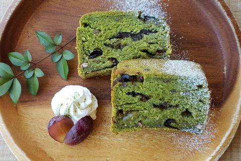 抹茶ときくらげのお寺ケーキ