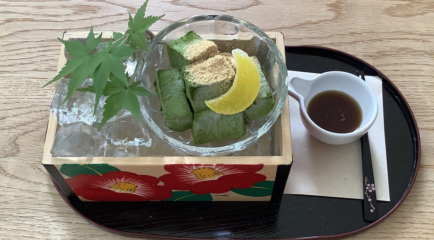 8月の禅心スイーツ〜冷やしわらび餅〜